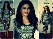Huma's Monochrome Pankaj & Nidhi Look