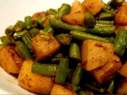 Spicy Aloo And Green Beans Sabzi