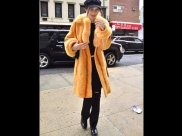 Bella Hadid Turns Heads In Bold Orange While Out In New York