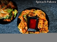 Palak Pakoda Recipe | Spinach Fritters Recipe | Spinach Pakora Recipe