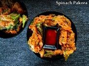 Palak Pakoda Recipe | Spinach Fritters Recipe | Spinach Pakora Recipe