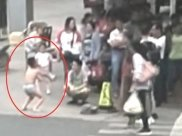 Mum Strips Her Son In Public For Touching A Girl's Butt!