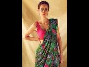 Kalki Koechlin Makes A Watermelon Splash With Her Green Sari