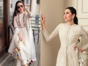 Karisma Kapoor Makes An Ivory Splash With These Two Intricately-Done Traditional Outfits
