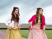 Sania Mirza And Anam Mirza Give Us Twinning Moment With Vibrant Bridal Lehengas