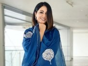 Hina Khan Flaunts Her Pretty Blue Suit And Promises To Never Come Out Of Her Slaying Zone!