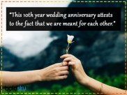 Quotes, Wishes And Images For 10th Wedding Anniversary
