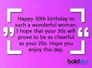 Quotes, Wishes And Messages For Wishing 30th Birthday