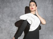 Gold Awards 2020: Hina Khan Looks Red Carpet-Ready In Her Black And White Gown; Guess The Price!