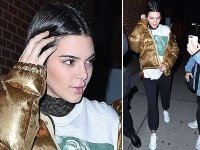 Kendall Jenner Pairs Her Gold Jacket With Trackpants & We Love It!