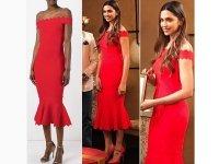 Deepika Padukone Wears Red & Turns Heads