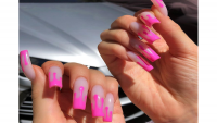 Kylie Jenner's French Drip Manicure
