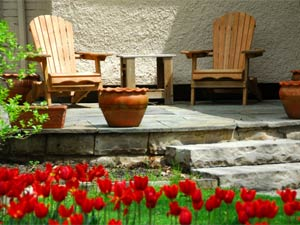 Garden seating arrangement