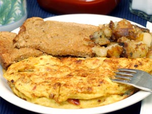 Cheese Omelette & Hash Browns Casserole
