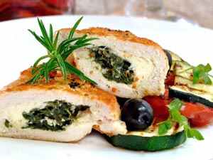 Cheese Stuffed Chicken: V Day Special
