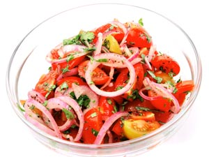 Tangy Tomato Cucumber Salad