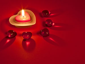 Candle Decoration V Day