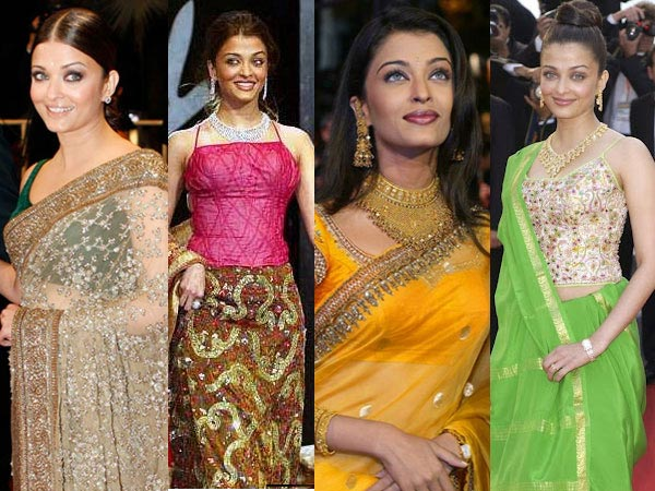 Aishwarya's Traditional Look At Cannes