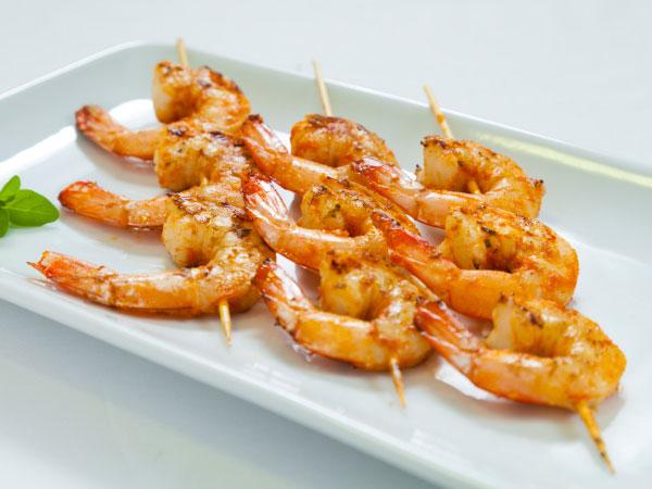 Prawn kebab seafood recipe for Bar food vegetarian