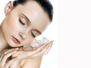 Face Massage Using Ice Cubes
