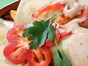 Pancakes With Tomato And Potato Filling