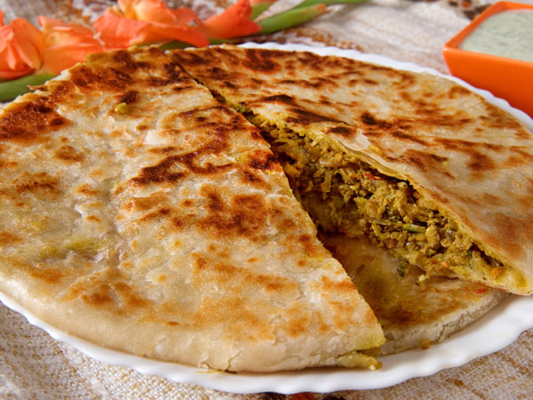 Capsicum Cheese Stuffed Parantha