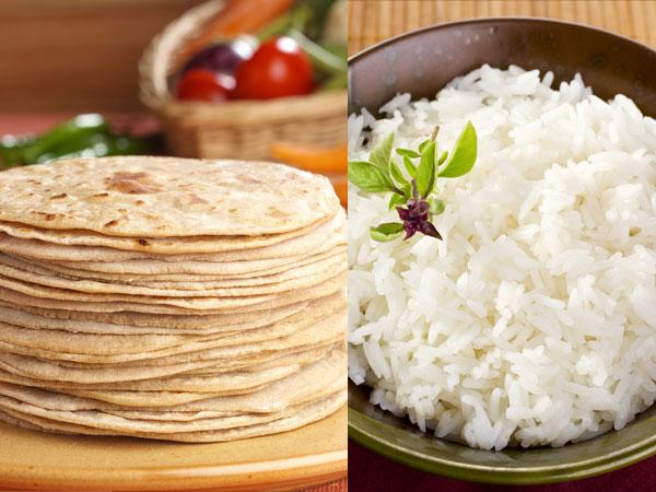 Roti gegen Reis