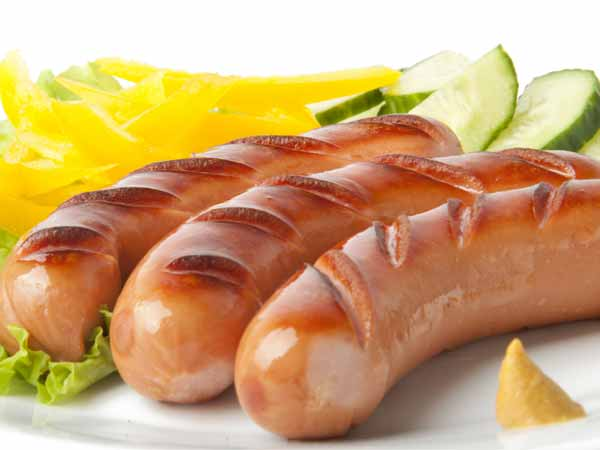 Grilled Chicken Sausages