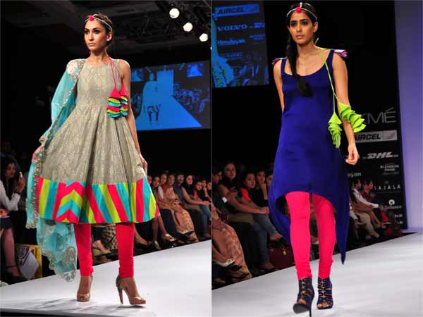 Kurti Styles At Lakme Fashion Week