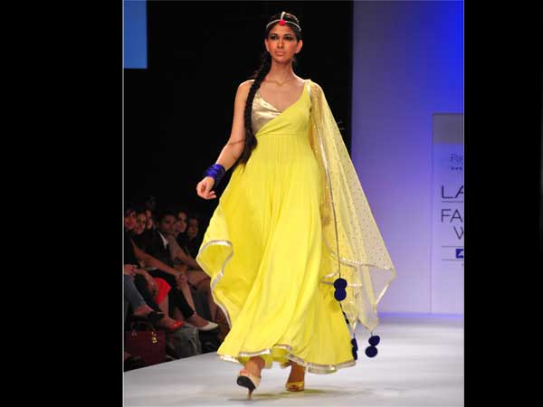 Sunshine Coloured Lehenga Kurti