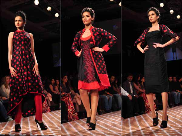 Anita Dongre's Patterns Of Red & Black