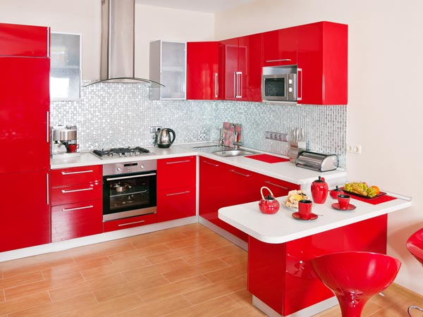 'Paint Me Red'- Kitchen