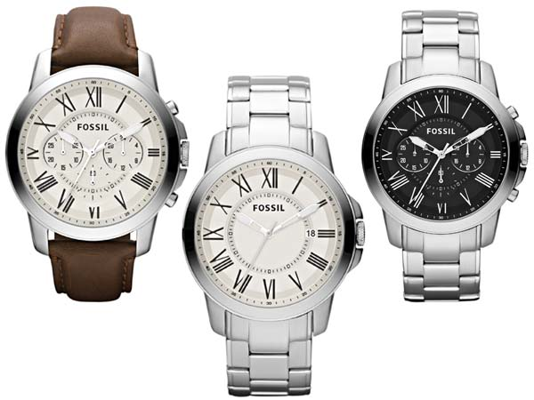 A Classy Style: Fossil Grant Timepieces