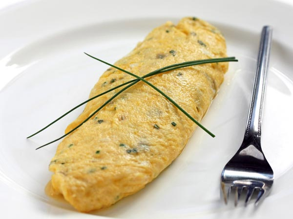 White Omelette With Herbs