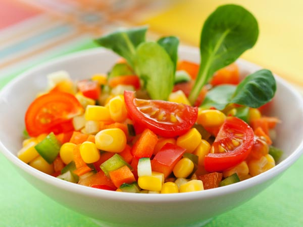 Healthy & Filling Peas Corn Salad Recipe