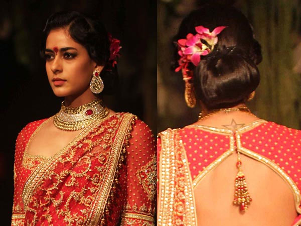 Hairstyles For Short Hair On Lehenga : Hairstyles With Lehenga with Lehenga Hairstyles also Simple Lehenga ...