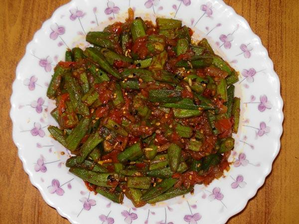 Easy kadai bhindi recipe
