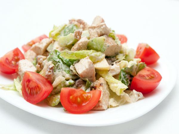 Soya Nugget Salad Low Calorie Breakfast Recipe
