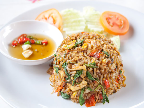 Spicy thai basil fried rice for Fish and rice diet