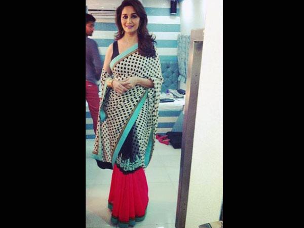 Best Madhuri Dixit Sarees - Boldsky.com