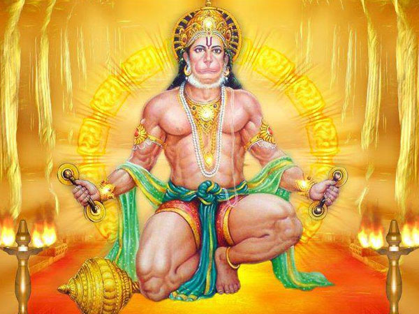 Reciting Hanuman Chalisa At Night