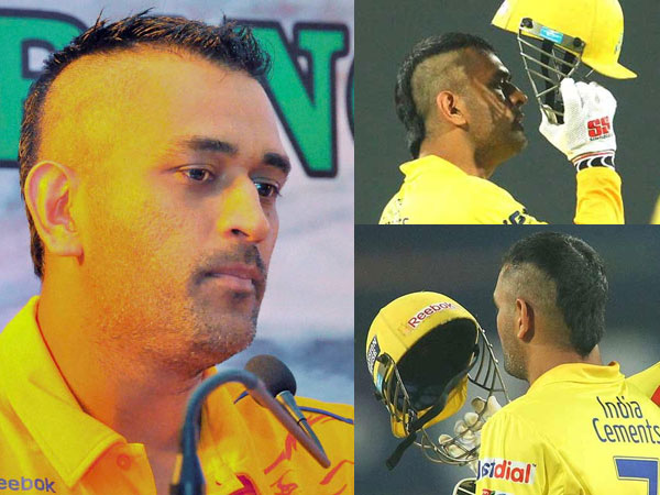Ms Dhoni Sports A New Mohawk Hairstyle Boldsky Com