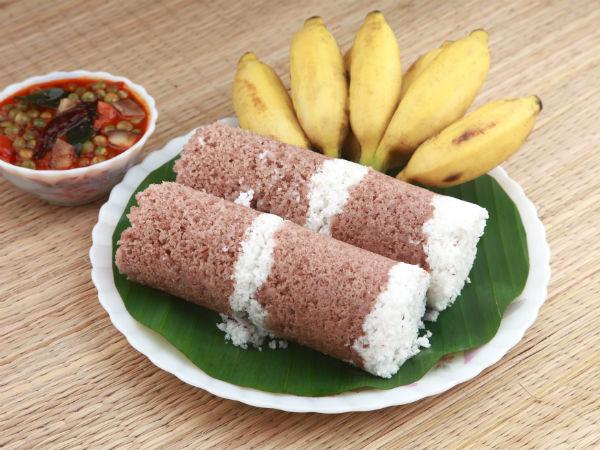 Raw Banana Puttu Recipe For Breakfast