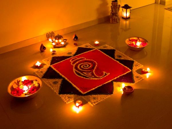 Home decor ideas for diwali low budget for Diwali home decorations pics