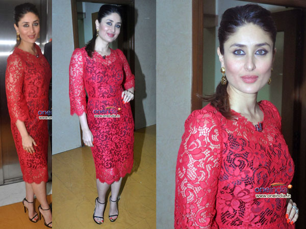 Bollywood Fashion N Beauty: Kareena Kapoor In Red Dolce N Gabbana