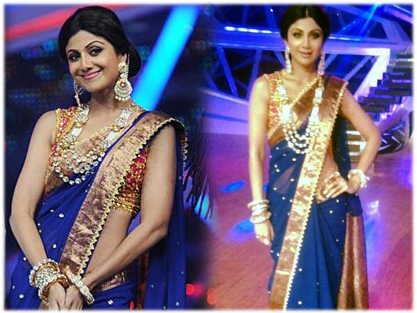 Shilpa Shetty In Preeti S Kapoor Saree