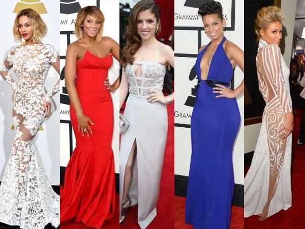 Revealing Dresses Seen At Grammys 2014