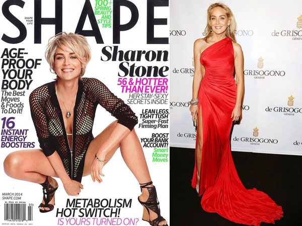 Sharon Stone On Shape Magazine Cover