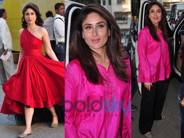 Kareena Kapoor Looks Hot In Red & Pink