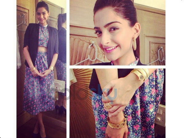 Sonam Kapoor At Bewakoofian Promotions